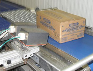 West Liberty Foods subway box inspected by 2 protected cognex cameras