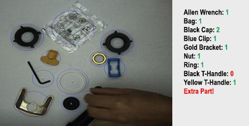 套件验证与此类似,但需要考虑不同颜色的产品。