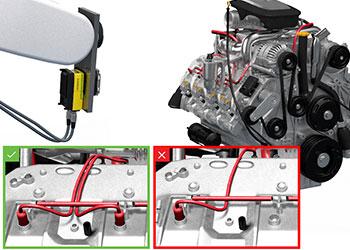 视觉系统检测发动机缸体