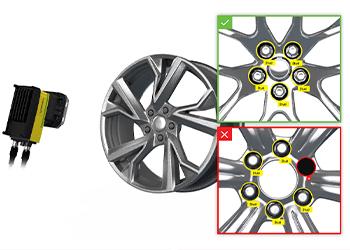 视觉系统检测车轮螺栓