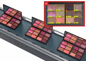 检测化妆品套件的缺陷