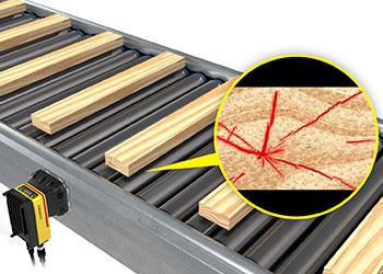 检测滚动输送机上的木板