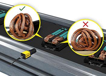 视觉系统检测电子组件上的编织线
