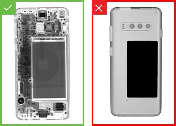 成品手机的合格和不合格检测结果