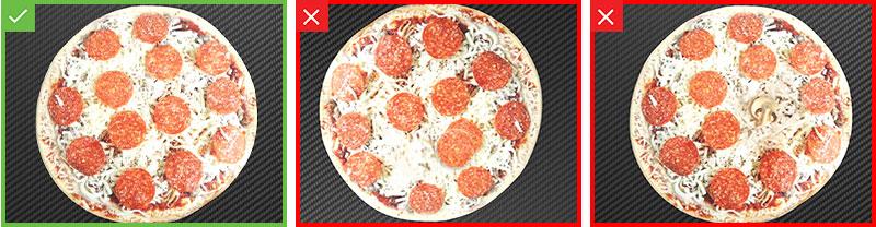 意大利辣香肠披萨的合格和不合格检测结果