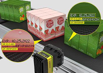 In-Sight D900 可读取各种食品和饮料包装上的难读条码。
