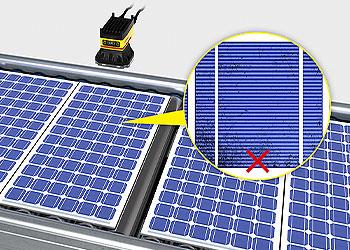 视觉系统检测太阳能电池板缺陷