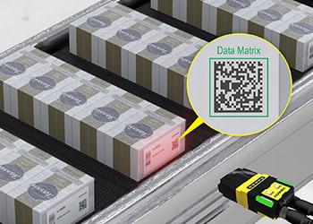 Cigarette Carton Tracking from Cognex Dataman 260 reading data matrix