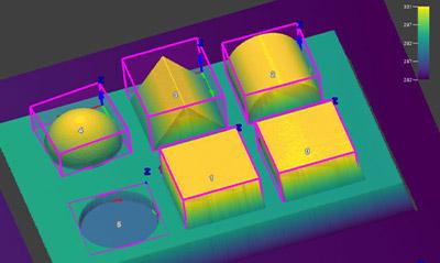 Blob3D 视觉工具查找并测量三维图像上的特征体积。