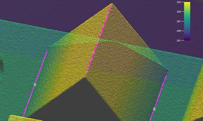 Edge3D 视觉工具使用零件的几何形状在三维图像上可靠地定位凹凸边缘。