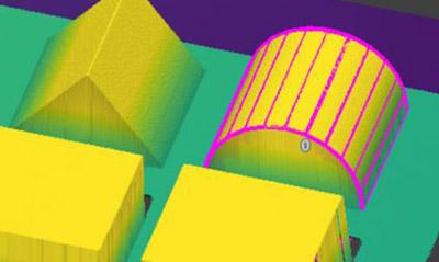 Extract Cylinder3D 视觉工具使用零件的几何形状定位并测量零件的圆柱形部分。