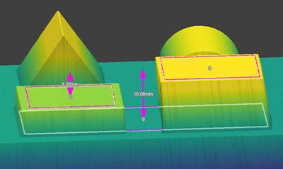 Point to Plane3D 使用提取的特征快速测量步长高度和距离。