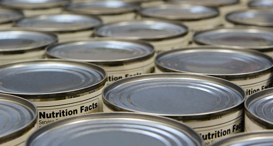 top of tin food cans