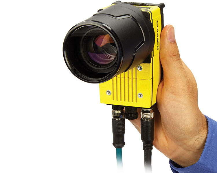 In-Sight 9000 Vision System being held
