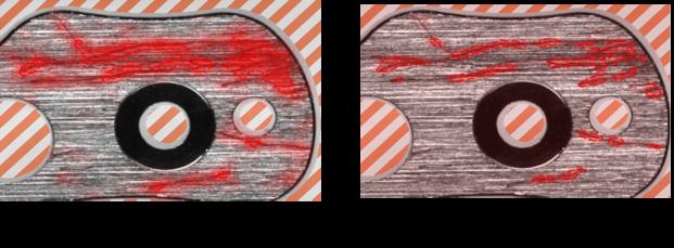 红色分析工具中聚焦和高细节模式对比